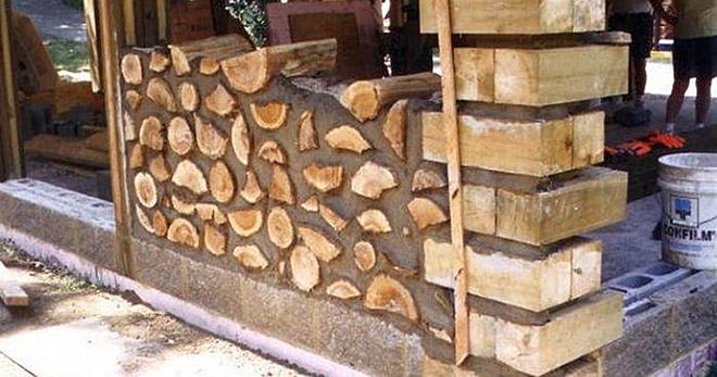 Они взяли обычные дрова и построили из них шикарный тёплый дом!